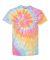 69 Dyenomite Tie-Dye Adult Neon Pigment-Dyed Spiral Tee 200MS Aerial Spiral