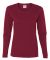 5400L Gildan Missy Fit Heavy Cotton Fit Long-Sleeve T-Shirt CARDINAL RED