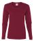 5400L Gildan Missy Fit Heavy Cotton Fit Long-Sleeve T-Shirt GARNET