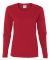 5400L Gildan Missy Fit Heavy Cotton Fit Long-Sleeve T-Shirt RED