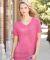8132 J. America - Women's Oasis Wash V-Neck T-Shirt