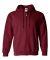 18600 Gildan 7.75 oz. Heavy Blend™ 50/50 Full-Zip Hood CARDINAL RED