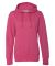 8860 J. America Women's Glitter French Terry Hooded Pullover Wildberry/ Silver