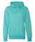 8860 J. America Women's Glitter French Terry Hooded Pullover Maui Blue/ Silver