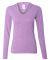 J America 8263 Ladies' Twisted Slub Jersey Hooded Pullover T-Shirt Amethyst