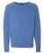 J America 8875 Triblend Crewneck Sweatshirt Royal Triblend