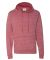 J America 8881 Vintage Marled French Terry Hooded Pullover Simply Red