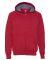 Hanes HN280 Nano Full Zip Hooded Sweatshirt Vintage Red
