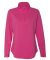 3764 LAT - Ladies' French Terry Quarter-Zip Pullover HOT PINK