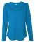 LAT 3761 Women's V-Neck French Terry Pullover COBALT