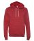 BELLA+CANVAS 3719 Unisex Cotton/Polyester Pullover Hoodie Red Marble