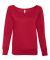 BELLA 7501 Womens Fleece Pullover Sweatshirt RED