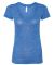 BELLA 6035 Womens Deep V-Neck T-shirt TRUE ROYAL MRBLE
