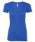 BELLA 8435 Womens Fitted Tri-blend Deep V T-shirt TRUE ROYAL TRBLN