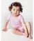 4001 American Apparel Infant Baby Rib Short Sleeve One Piece Pink(Discontinued)