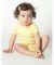 4001 American Apparel Infant Baby Rib Short Sleeve One Piece Lemon(Discontinued)