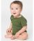 4001 American Apparel Infant Baby Rib Short Sleeve One Piece Olive(Discontinued)