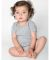 4001 American Apparel Infant Baby Rib Short Sleeve One Piece Heather Grey(Discontinued)