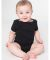 4001 American Apparel Infant Baby Rib Short Sleeve One Piece Black(Discontinued)