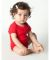 4001 American Apparel Infant Baby Rib Short Sleeve One Piece Red(Discontinued)
