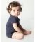 4001 American Apparel Infant Baby Rib Short Sleeve One Piece Navy(Discontinued)