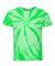 Dyenomite 20BTT Youth Tone-on-Tone Pinwheel Short Sleeve T-Shirt Neon Green