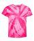 Dyenomite 20BTT Youth Tone-on-Tone Pinwheel Short Sleeve T-Shirt Neon Pink