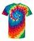 69 Dyenomite Tie-Dye Adult Neon Pigment-Dyed Spiral Tee 200MS Michelangelo