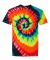 69 Dyenomite Tie-Dye Adult Neon Pigment-Dyed Spiral Tee 200MS Illusion
