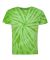 Dyenomite 20BCY Youth Cyclone Vat-Dyed Pinwheel Short Sleeve T-Shirt Lime