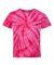 Dyenomite 20BCY Youth Cyclone Vat-Dyed Pinwheel Short Sleeve T-Shirt Fuchsia
