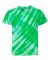 Dyenomite 20BTS Youth One Color Tiger Stripe T-Shirt Kelly