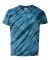Dyenomite 20BTS Youth One Color Tiger Stripe T-Shirt Navy