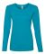 884L Anvil Missy Fit Ringspun Long Sleeve T-Shirt Caribbean Blue