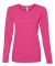 884L Anvil Missy Fit Ringspun Long Sleeve T-Shirt Hot Pink