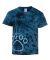 Dyenomite 20BPR Youth Pawprint Short Sleeve T-Shirt Navy