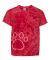 Dyenomite 20BPR Youth Pawprint Short Sleeve T-Shirt Red