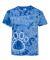 Dyenomite 20BPR Youth Pawprint Short Sleeve T-Shirt Royal