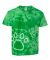 Dyenomite 20BPR Youth Pawprint Short Sleeve T-Shirt Kelly