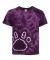 Dyenomite 20BPR Youth Pawprint Short Sleeve T-Shirt Purple