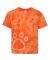 Dyenomite 20BPR Youth Pawprint Short Sleeve T-Shirt Orange
