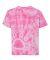 Dyenomite 20BPR Youth Pawprint Short Sleeve T-Shirt Pink