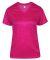 Badger Sportswear 4175 Tonal Blend Women's V-Neck Tee Hot Pink Tonal Blend