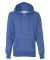 8860 J. America Women's Glitter French Terry Hooded Pullover Royal/ Silver