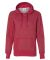 8860 J. America Women's Glitter French Terry Hooded Pullover Red/ Silver