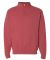 JERZEES 995 Adult New Blend Zip Cadet Collar Sweatshirt 995M Vintage Heather Red