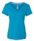Hanes 42V0 X-Temp Women's V-Neck T-Shirt Neon Blue Heather