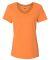 Hanes 42V0 X-Temp Women's V-Neck T-Shirt Neon Orange Heather