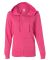 LAT 3763 Women's Zip French Terry Hoodie HOT PINK