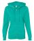 LAT 3763 Women's Zip French Terry Hoodie JADE